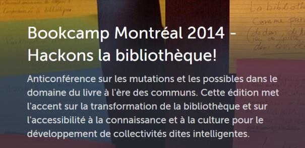 Bookcamp Montréal 2014 en tweets et liens sur Storify